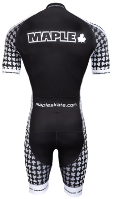 Maple Skinsuit zwart/wit