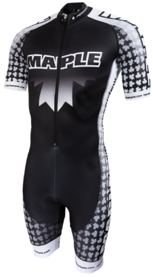 Maple Skinsuit zwart/wit