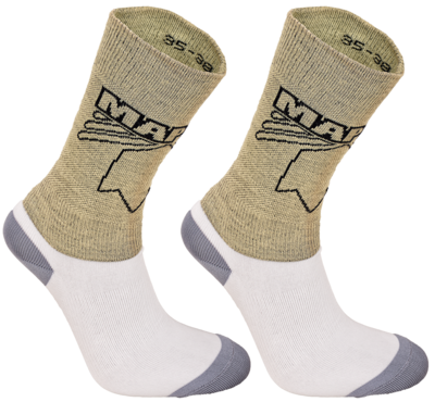 Maple Cutresistant kevlar sock