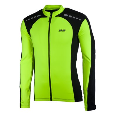 Mateo Maillot velo manches longues jaune fluo