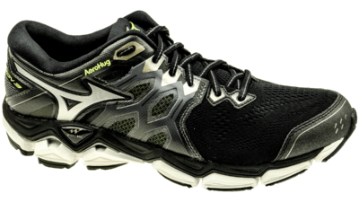 Mizuno Wave Horizon 3 black/metallic shadow/safety yellow