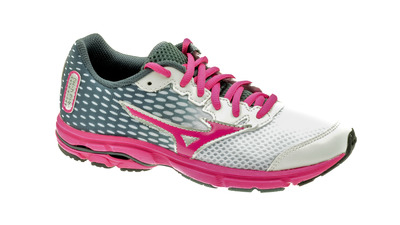 Mizuno Wave Rider 18 Jnr white/pink/anthracite kids