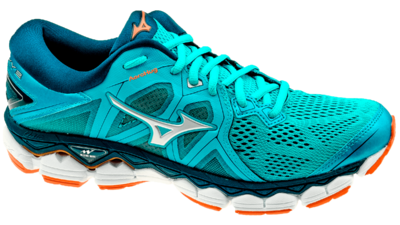 Mizuno Wave Sky 2 hawaiian ocean/silver/bird of paradise
