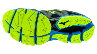 Mizuno Wave Sky 2 ombre blue/safety yellow