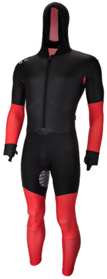 Speedskating Suit Noir/Rouge