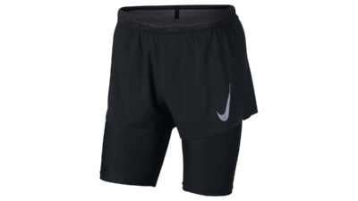 Nike Men's AeroSwift 2-in-1 Cool shorts black/gunsmoke
