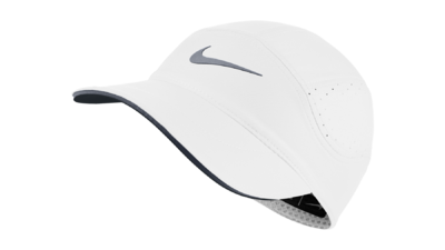Nike Dri-Fit AeroBill running cap [white/cool grey]