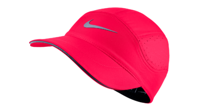 Women's Dri-Fit AeroBill running cap [racerpink/black]
