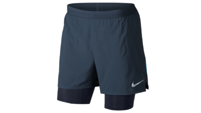 Distance 2-in-1 running shorts - thunder blue/obsidian