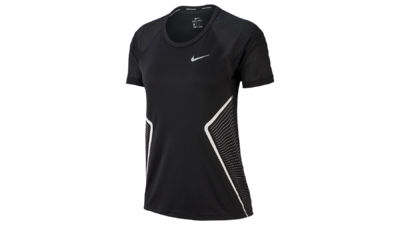 Nike Women Dry Miler Top SS GX black/white