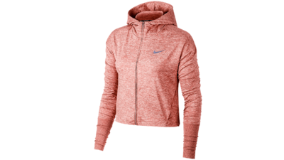Women's Element Hoodie running - rust pink/htr