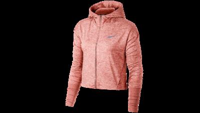 Nike Women's Element Hoodie running - rust pink/htr