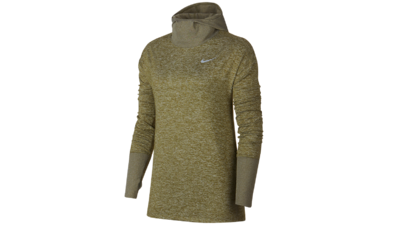 Women's Element Hoodie running - medium olive/reflective silver