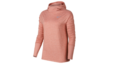 Women's Element Hoodie running - rustpink