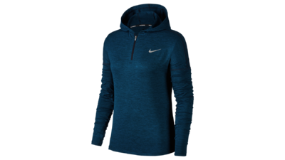 Element Hoodie women's running - obsidian/blueforce