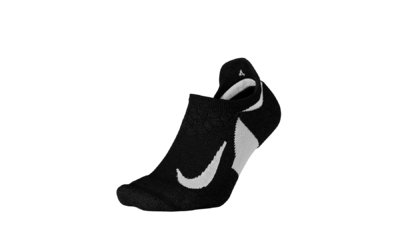 Nike Elite Cushion No show Running socks black/white unisex