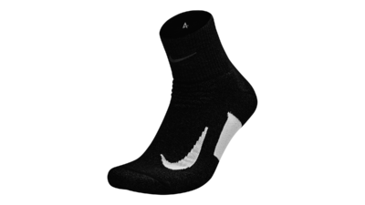 Elite Cushion Quarter Running socks black/white unisex