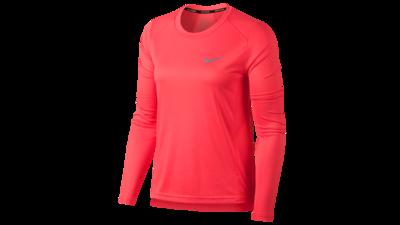 Nike Women's Dry Miler running top [coral sea]