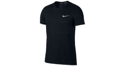 Nike Men's Miler running shirt - black-texture