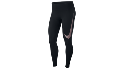 Power Essential running tights black - swoosh pink