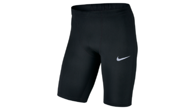 Men's Power running half tights [black]