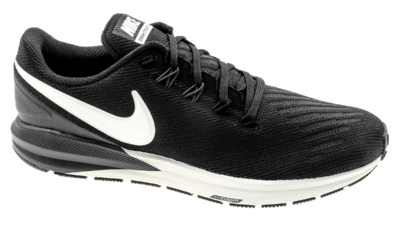Men's Air Zoom Structure 22 black/white/grid iron