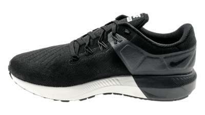 Nike Womens's Air Zoom Structure 22 black/white/grid iron