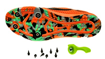 Nike Zoom Rival XC black-green/total-orange [unisex]