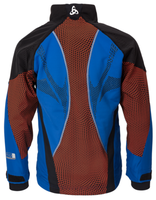 Odlo Jacket Frequency Web Blauw/Zwart KIDS