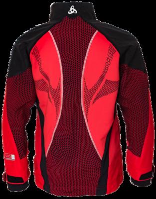 Odlo Jacket Frequency Web Rood/Zwart KIDS