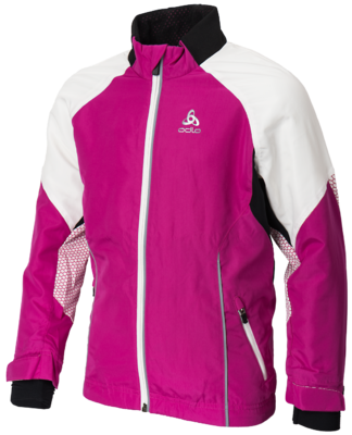Odlo Jacket Frequency Web Violet/Rose Junior