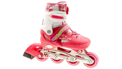 Playlife Joker Skates white/pink adjustable