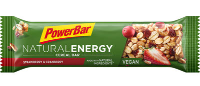 Powerbar Natural energybar: strawberry canberry (vegan)