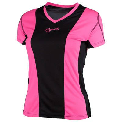 Simra Running T-shirt Women Pink/black