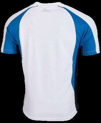 Rogelli Running shirt Elba wit/blauw/zwart