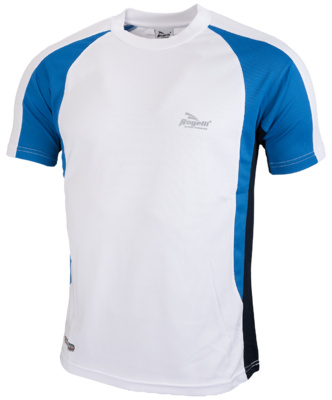 Running shirt Elba white/blue/swartz