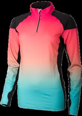 Hardloop Shirt Lange Mouw Multicolor met Rits