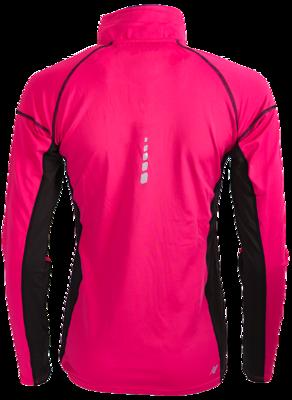 Rucanor Fluor roze hardloop shirt lange mouw met ritsje.