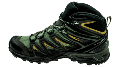 Salomon X Ultra Mid 3 GTX Castor Gray/Black/Green Sulphur
