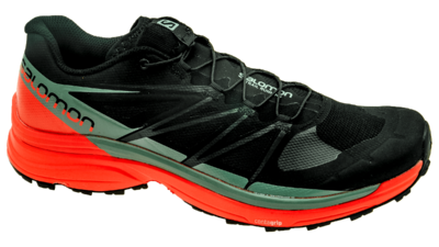 Salomon Wings Pro 3 Black/Scarlet Ibis/Lead