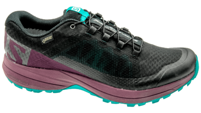 XA Elevate GTX potent purple/tropical green/black