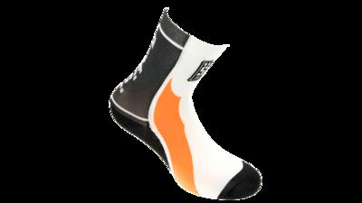 Santini Fietssokken Calzini Zwart\Oranje\Wit