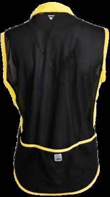 Santini wielervest Mesh.  zwart-geel