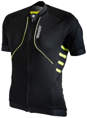 Fietsshirt Aero Zwart Neongeel