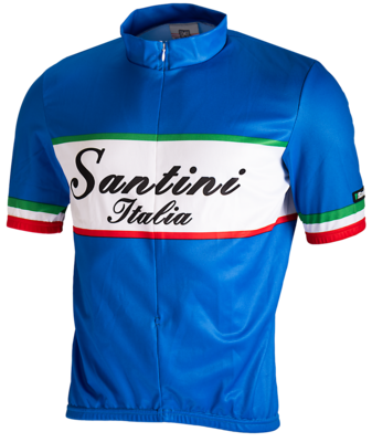 Santini Cycleshirt Short Sleeve White-Blue