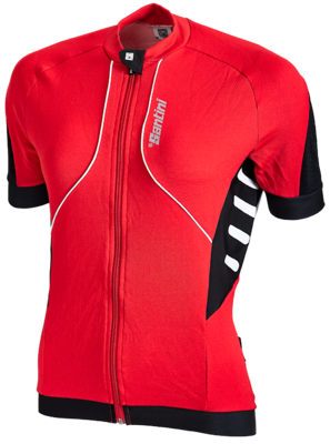 Santini Cycleshirt Aero White Black Red