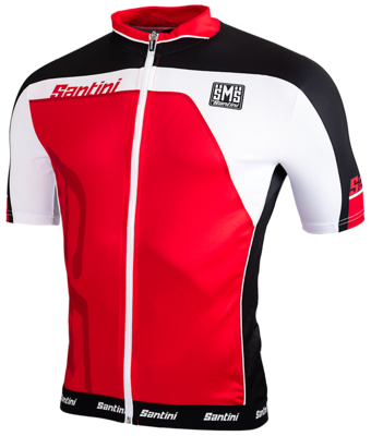 Santini Cycleshirt Red Short Sleeves