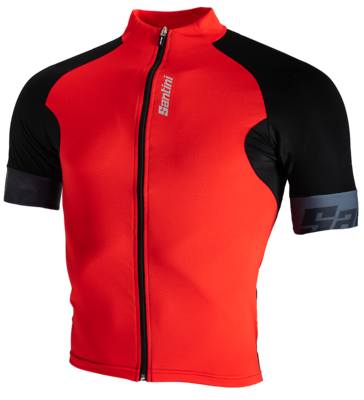 Santini Cycleshirt Short Sleeve Cool Zero Eco-Friendly Red