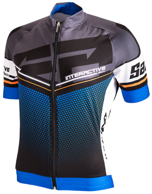 Aerodynamic Cycling Jersey Interactive Blue