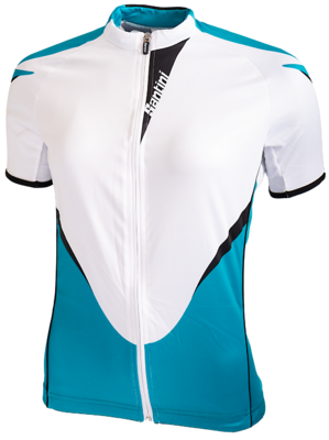 Santini Fietsshirt Ladies Short Sleeve White Turquoise